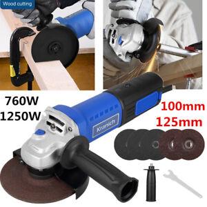 Pro-Disqueuse-Meuleuse-d-039-angle-Angulaire-Electrique-125mm-1250W-Pour-Metal-Bois
