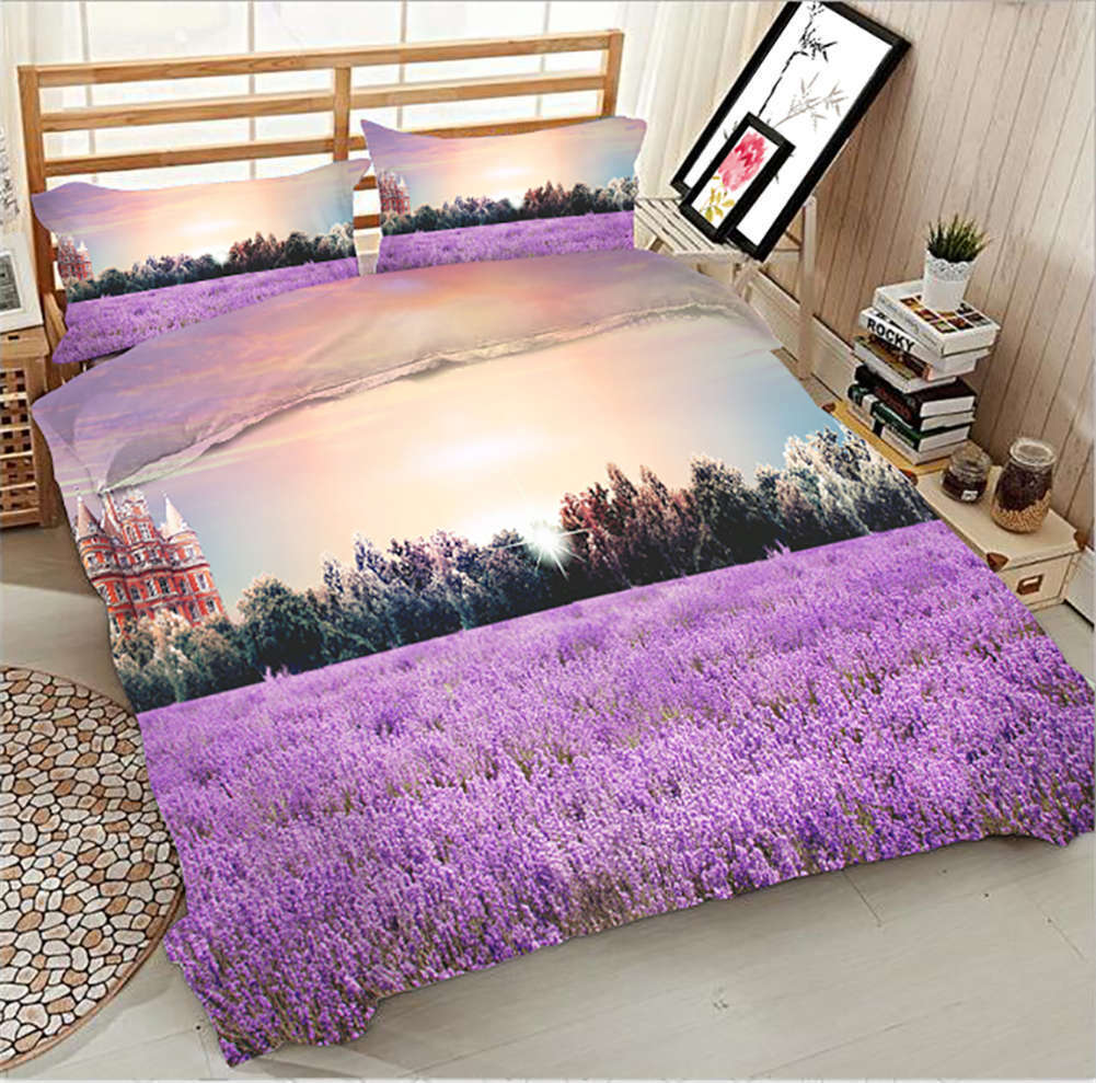 Balmy Lavender 3D Printing Duvet Quilt Doona Covers Pillow Case Bedding Sets