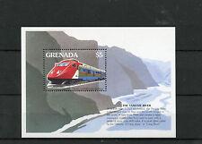 Grenada 1995 MNH Trains World 1v S/S I Railways Züge Trenes Treni Chemin de Fer
