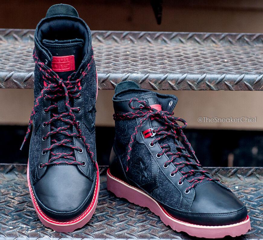 CONVERSE PRO FIELD HI MENS FASHION HIKING TRAIL BOOTS BLACK RED 139891C