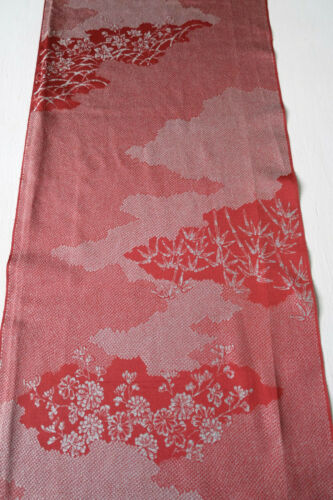 Vintage Japanese Kimono Fabric Terracotta Silk Blend 35x153pcm X416