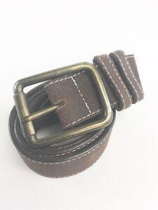 Vintage-Herren-Braun-Leder-klassische-formale-Laessige-Guertel-Groesse-38-40-034-cm-lang