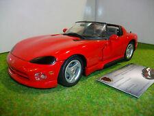 DODGE VIPER RT/10 cabriolet 1/20 CREATIVE MASTER REVELL 08672 voiture miniature