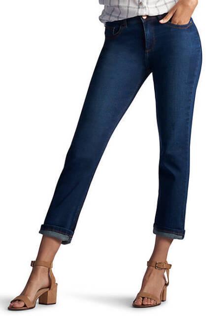95aeb26e Lee Womens Collection 337900g Easy Fit Cameron Cuffed Capri Jean 4 Petite  Dallas. +. $14.99Brand New