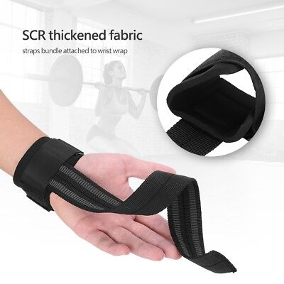 Padded Wrist Wraps Weight Lifting Training Gym Straps Support Grip Gloves