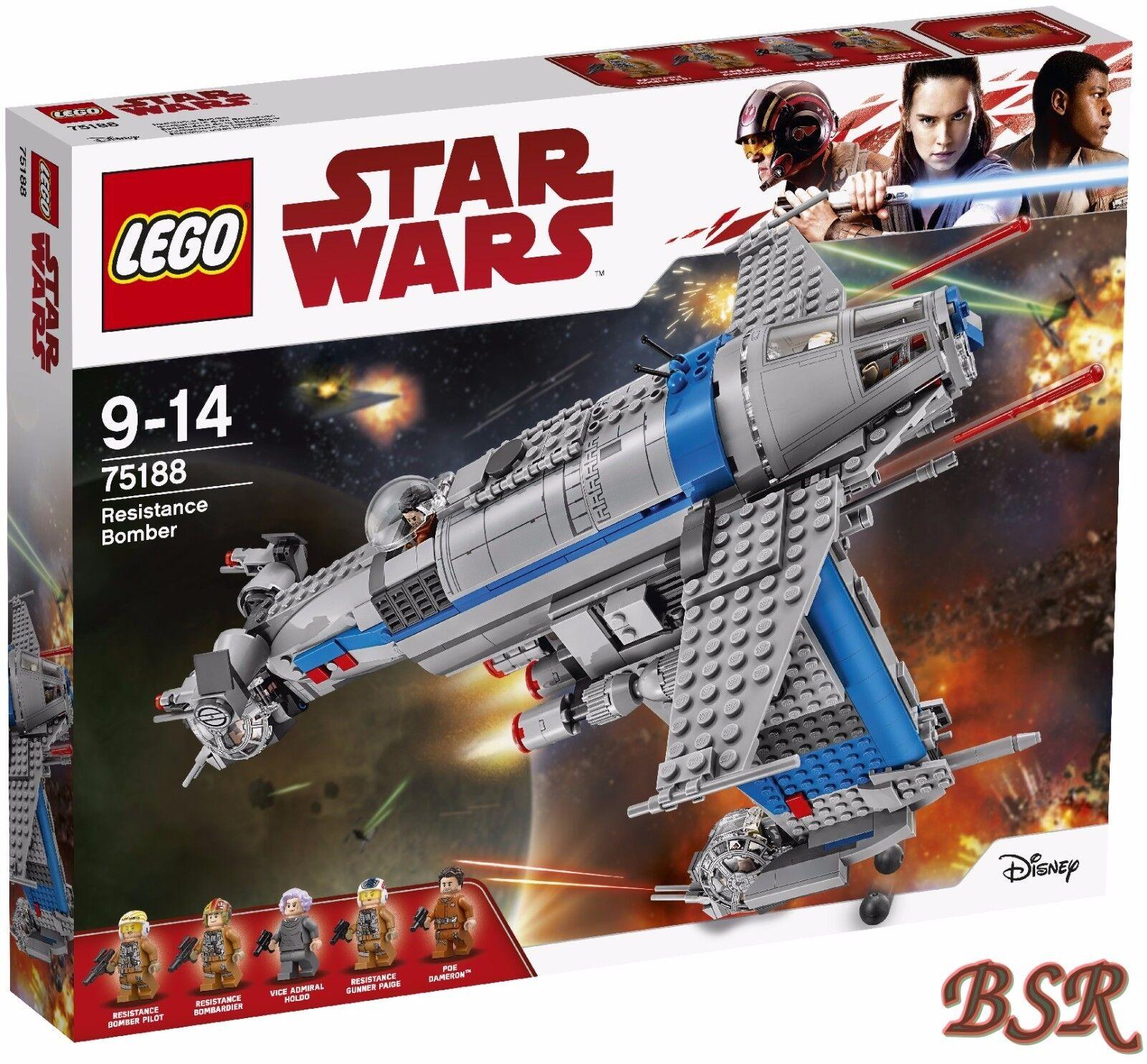 vendite calde LEGO ® Estrella Guerras Guerras Guerras ™  75188 resistance Bomber & 0.  Spedizione & NUOVO & OVP   Sconto del 60%