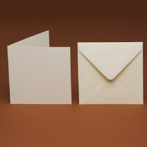 """7""""x 7"""" ivory cards & envelope pack of 25"""