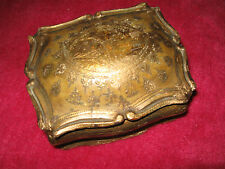 JOLI COFFRET ANCIEN EN BOIS DORÉ STYLE FLORENTIN ITALIE/VINTAGE BOX ITALIAN/N°32