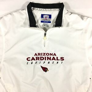 cheap for discount 8664a a7e2c Details about Arizona Cardinals Vented Reebok Pullover Windbreaker Jacket  NFL Size Large White