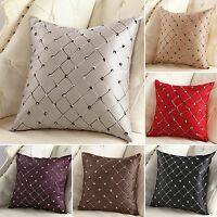 Square Plaid Pillow Case Vintage Waist Back Throw Cushion Cover Sofa Home Decor