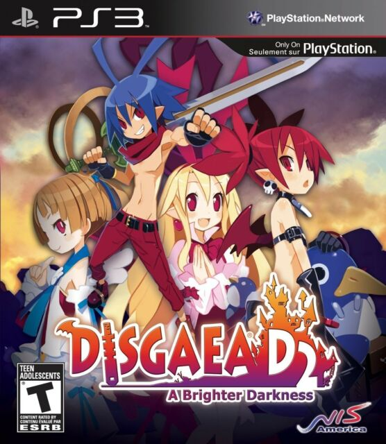 Disgaea D2: A Brighter Darkness (Sony PlayStation 3, 2013) + SOUNDTRACK NEW