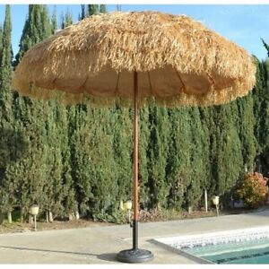 Image Is Loading Tiki Thatched Hula Beach Umbrella 8 039 Feet