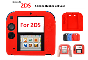 finest selection f4d0a d345b Details about RED -Silicone Soft RUBBER BUMPER Gel Skin Case Cover For  Nintendo 2DS Game