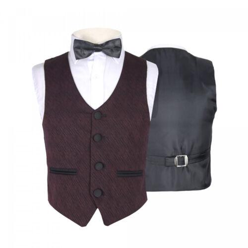 Boys Premium Formal Blue /& Navy Suit Kids Burgundy /& Black Wedding Suits