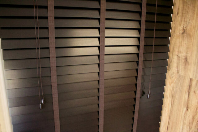 50mm wood blind with tapes ✰ finished in Dark Brown Mocha ✰ Made to Measure