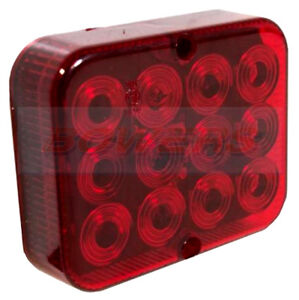 MAYPOLE-12V-COMPACT-UNIVERSAL-E-APPROVED-TRAILER-LED-RED-REAR-FOG-LAMP-LIGHT