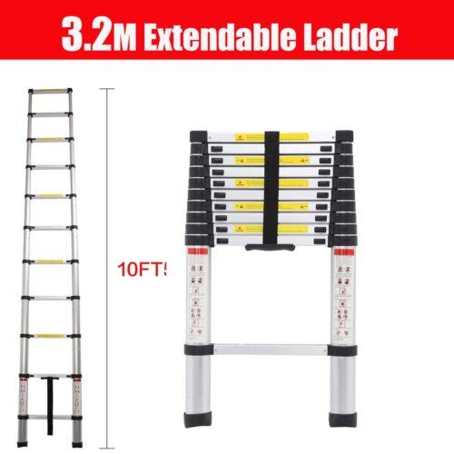 2.6M-5MTelescopic Aluminium Foldable Extendable Multi Purpose Ladder UK EN131