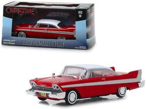 CHRISTINE-Movie-1958-Plymouth-Fury-Diecast-Car-1-43-Greenlight-5-inch-Red-86529