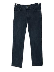 Lee MARION Women Dark Grey Stretch Regular Straight Fit Jeans W30 L32