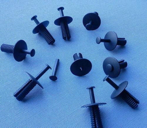 10x Carénage Clips Fixation Colliers Support Clip Pour Bmw Seat MB Noir 190 A