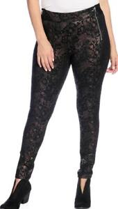 Slimming Options Kate /& Mallory High-Density Zipper Detailed Pull-on Leggings
