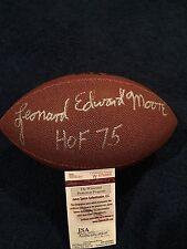 Leonard Edward Moore Signed Full Size Football JSA, Colts With Full Name Lenny