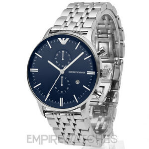 22278520ad74b NEW  MENS EMPORIO ARMANI GIANNI BLUE STEEL WATCH - AR1648 - RRP ...