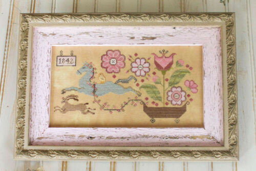 Spring Delivery Plum Street Samplers Cross Stitch Pattern
