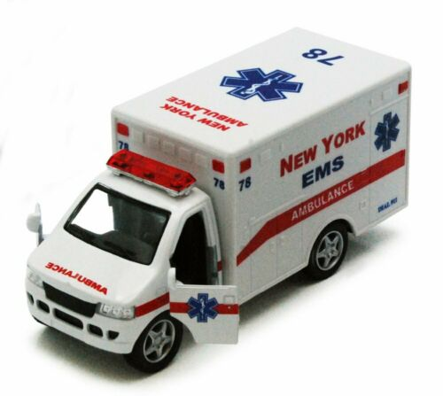 "New York Rescue Team Ambulance White Kinsmart 5259DNY 5/"" Diecast Model Car"