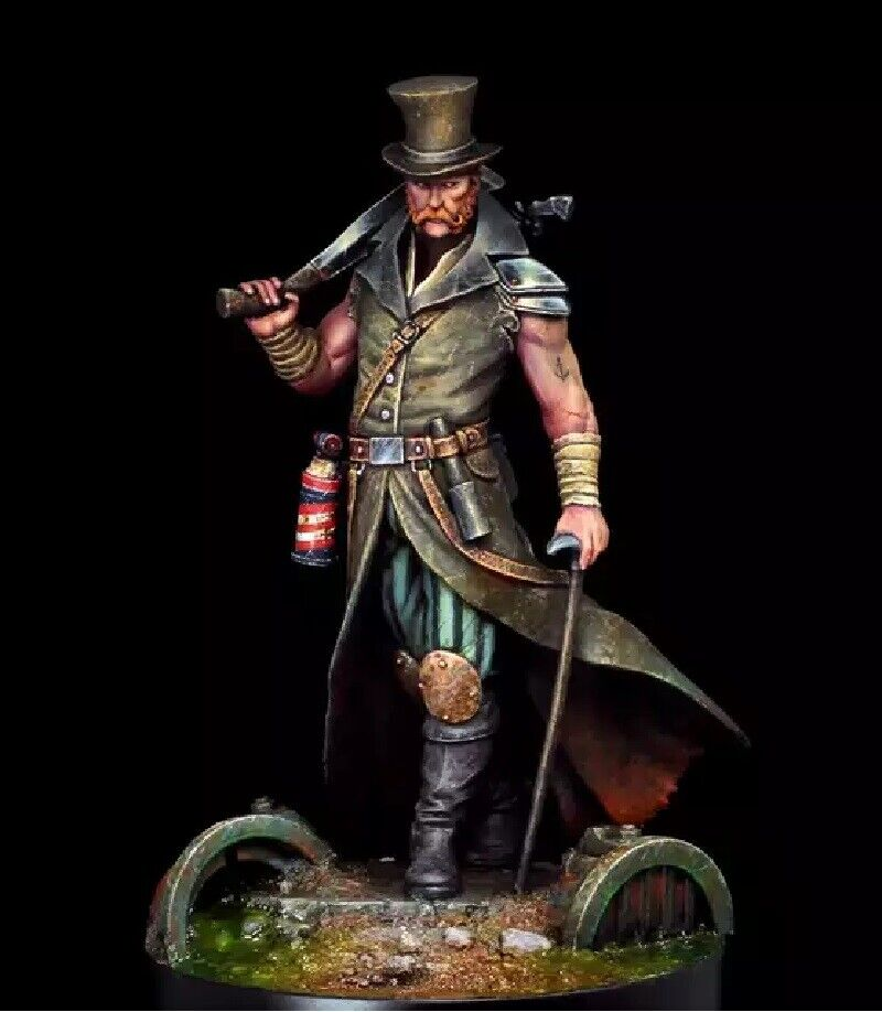1 24 Resin Figure Model Kit Warrior Butcher CyberPunk Unassambled Unpainted