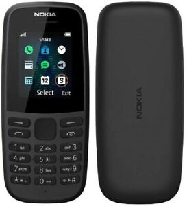 Nokia 105 (2019) Mobile Phone 4MB SIM Free Unlocked - *Black* B