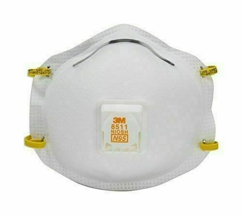 3M 8511PA1-2A N95 Paint Sanding Respirator with Cool Flow Valve - Pack of 2