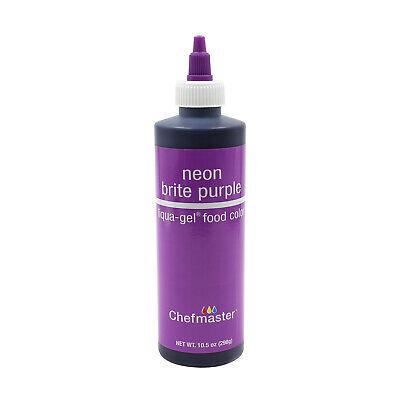 Chefmaster by US Cake Supply 10.5oz Neon Brite Purple Liqua-Gel Cake Food  Color 845927026586 | eBay