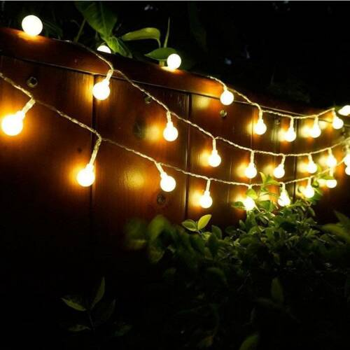 10m//20m Mains Powered Warm White LED String Fairy Ball Lights Indoor//Outdoor UK