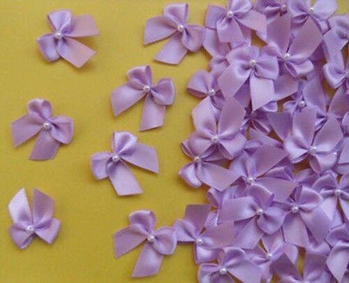 """W 1 /"""" r0034u 50 Piezas luz púrpura cinta de raso Arcos w//beads"""