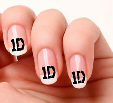 20 NAIL Art Decalcomanie Trasferimenti Adesivi # 717 - ONE DIRECTION 1D PEEL & STICK