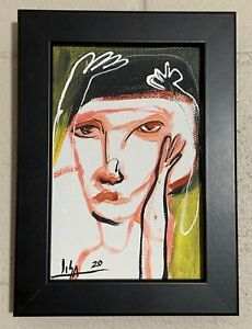 PAINTING-ORIGINAL-ACRYLIC-ON-CANVAS-PANEL-FRAME-INCLUDED-4x6-CUBAN-ART-by-LISA
