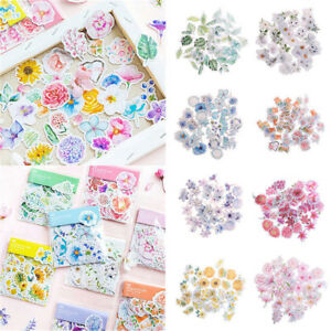 45Pcs-DIY-Kawaii-Journal-Diary-Decor-Flower-Stickers-Scrapbooking-Stationery-US