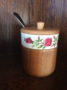 Lovely Vintage Jam/marmalade/Condiment Pot With Spoon