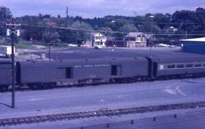NYC-NEW-YORK-CENTRAL-Railroad-Train-Baggage-Car-RENSSELAER-Original-Photo-Slide