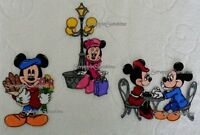 Disney Epcot Showcase France Mickey & Minnie- Printed Scrapbook Page Paper Piece