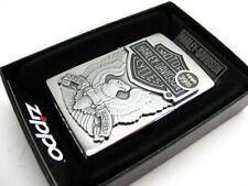 ZIPPO Brushed Chrome HARLEY-DAVIDSON Eagle Emblem Windproof Lighter! 200HD.H284