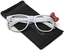 d23918835 Hello Kitty Bow Tie Glasses Womens Girls Teen Clear Lens Rhinestone  Sunglasses