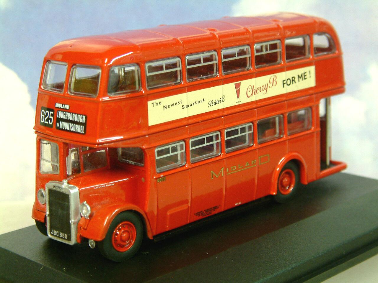 Oxford tärningskast 1  76 Leyland Titan Pd2  12 Midland röd Rt625 Loughbguldugh