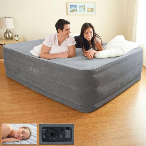Intex Luftbett Gästebett Bett selbstaufblasend Luftmatratze mit Pumpe Reisebett