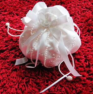Avoir Un Esprit De Recherche Ladymyp © Romantique Mariée Sac Avec Fleurs, Perles Et Strass-afficher Le Titre D'origine