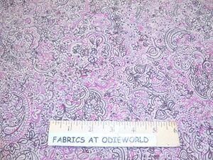 New-John-Kaldor-pink-paisley-floral-apparel-RAYON-fabric-10-yds-x-58-034