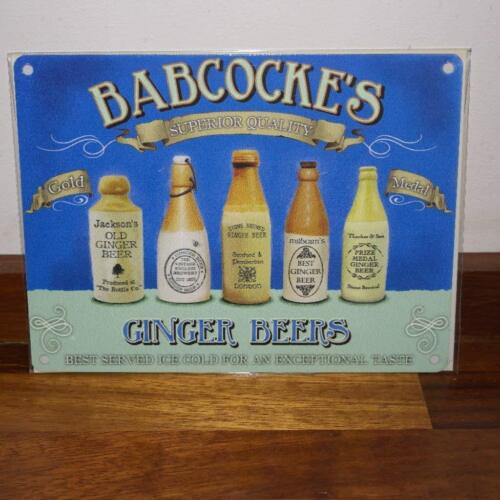 og Babcocke/'s Ginger Beers small steel sign 200mm x 150mm