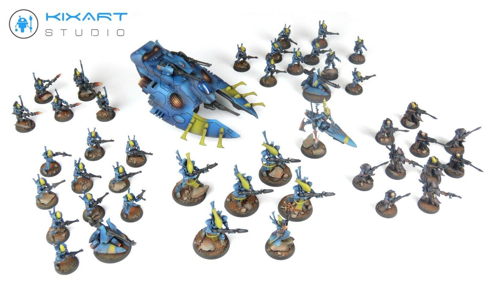 Warhammer 40,000 40k Craftworld Eldars Army - Kixart Studio - - - Pro painted ac61cb
