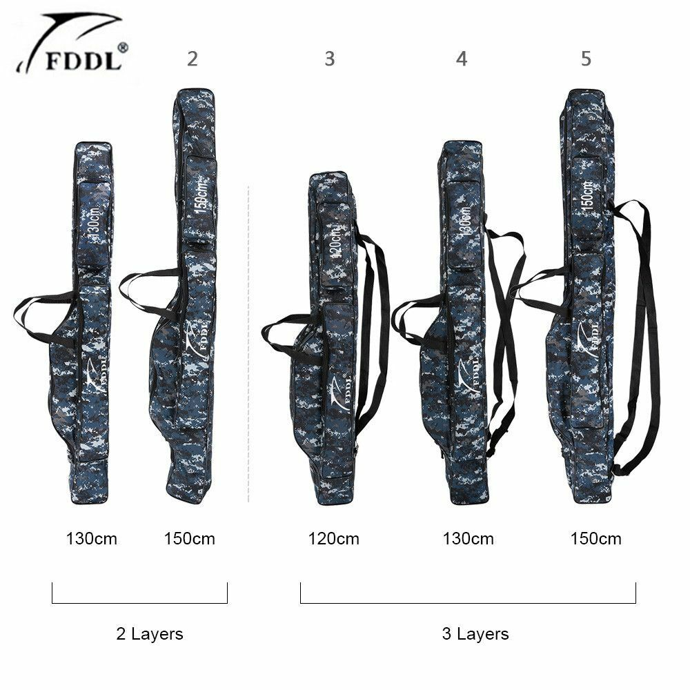 Fishing Canvas Pole Storage Fisher Travel Stuff Bag Tools Gear Holder Portable